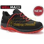 Chaussures Elten MADDOX W BLACK-RED LOW ESD S3